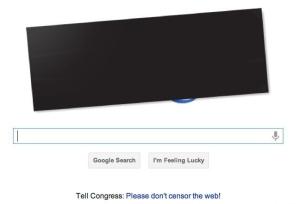 Anti-SOPA Google doodle