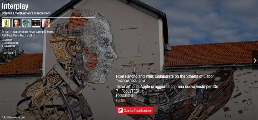 Flipboard - Interplay (home page del 22/11/2013)